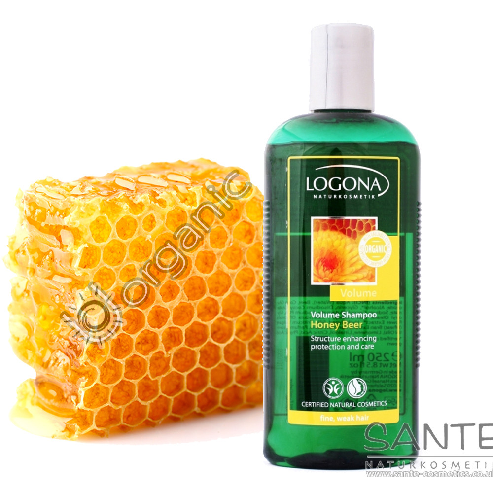 Logona Volume Shampoo Honey Beer for Fine & Weak Hair 250ml