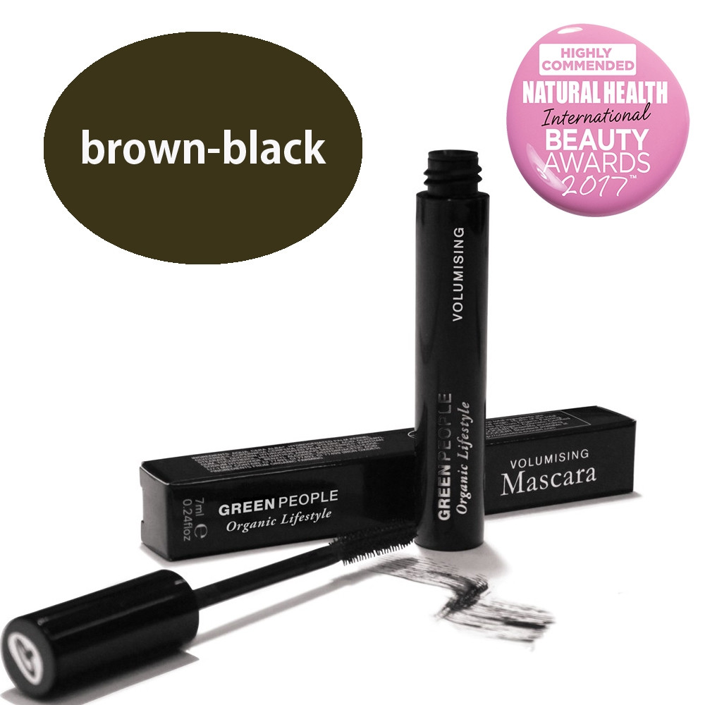 Green People Volumising Mascara - Brown - Black 7ml