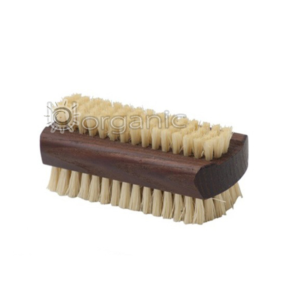 The Eco Bath Natural Sisal Walnut Wood Nail Brush