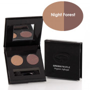 Green People Night Forest Eye Shadow Duo - Owl Taupe / Mink Brown