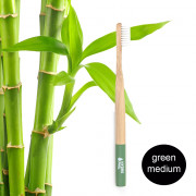 Hydrophil Adult - Biodegradable, Bamboo Toothbrush Green - Medium