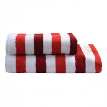 Dyckhoff Planet Stripes Towel 100% Organic Cotton - Red