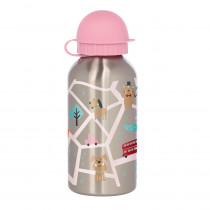 Sigikid Kids Drinking Bottle Cats & Dogs, Stainless Steel