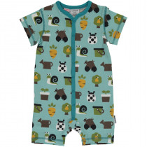 Maxomorra Garden Rompersuit Short Sleeved