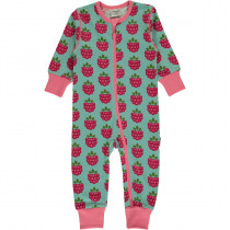 Maxomorra Raspberry Rompersuit Long Sleeved