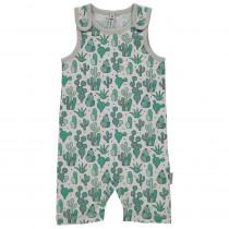 Maxomorra Cactus Garden Playsuit Short Sleeved