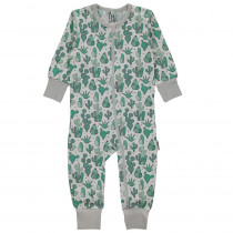 Maxomorra Cactus Garden Rompersuit Long Sleeved