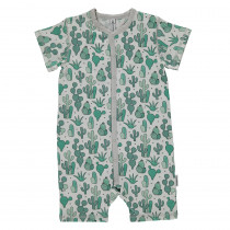 Maxomorra Cactus Garden Rompersuit Short Sleeved