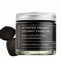 The White Teeth Box Activated Organic Coconut Charcoal Oral Powder