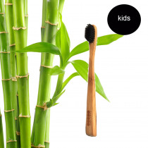 PearlBar Children - 100% Biodegradable Bamboo, Charcoal Infused Toothbrush Soft