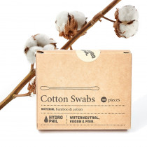 Hydrophil Cotton Ear Buds - Bamboo & Cotton - 100% Biodegradable