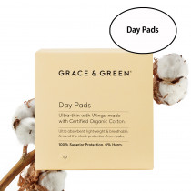 Grace & Green Organic Cotton Day Pads (10 in Box)