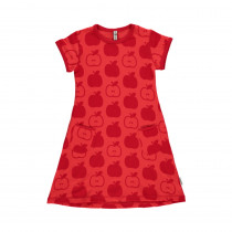 Maxomorra Red Apple Short Sleeved Dress