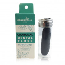 Organically Epic - Charcoal Infused Peppermint Vegan Dental Floss