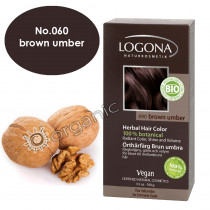 Logona Brown Umber Herbal Hair Colour 100g - 11/2019