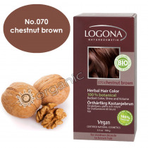 Logona Chestnut Brown Herbal Hair Colour 100g