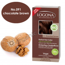 Logona Chocolate Brown Herbal Hair Colour 100g