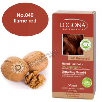 Logona Flame Red Herbal Hair Colour 100g