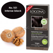 Logona Black Intense Herbal Hair Colour 100g