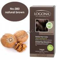 Logona Natural Brown Herbal Hair Colour 100g