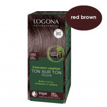 Logona Red Brown Herbal Hair Colour 100g