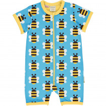 Maxomorra Humble Bumblebee Rompersuit Short Sleeved