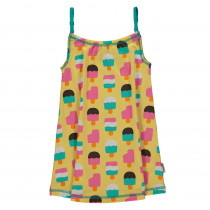 Maxomorra Ice Cream Yellow Spaghetti Dress