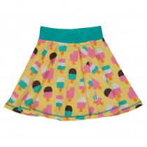 Maxomorra Ice Cream Yellow Spin Skirt