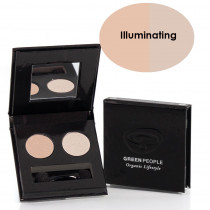 Green People Illuminating Eye Shadow Duo - Pearl / Satin Pink