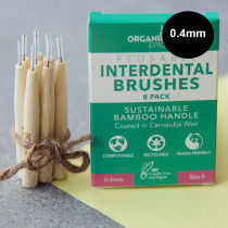 Organically Epic - Sustainable Bamboo Interdental Brushes 8 Pack Size = 0.4mm
