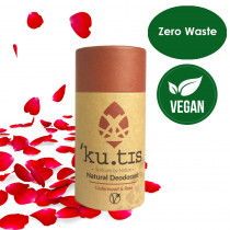 ku.tis Vegan Natural 100% Biodegradable Deodorant Cedarwood & Rose 55g