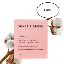 Grace & Green Organic Cotton Liners (24 in Box)