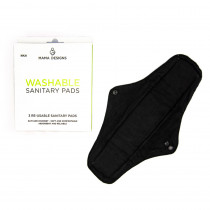 Mama Designs Reusable and Washable Sanitary Pads (Maxi) - 3 Pads
