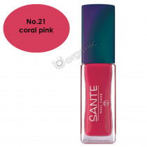 Sante Nail Polish No. 21 Coral Pink 7ml