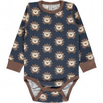 Maxomorra Hedgehog Bodysuit Long Sleeved