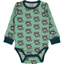 Maxomorra Raccoon Bodysuit Long Sleeved