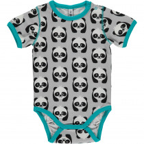 Maxomorra Panda Bodysuit Short Sleeved