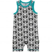 Maxomorra Panda Playsuit Short Sleeved