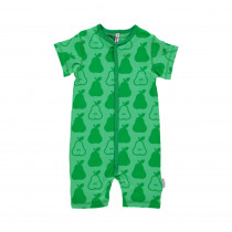 Maxomorra Green Pears Short Sleeved Rompersuit