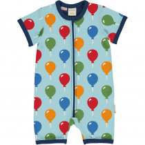 Maxomorra Balloon Rompersuit Short Sleeved