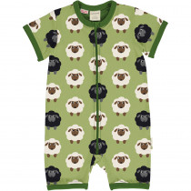 Maxomorra Sheep Rompersuit Short Sleeved