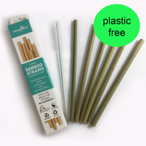 Organically Epic - Reusable Bamboo Straws x 6