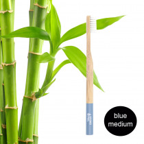 Hydrophil Adult - Biodegradable, Bamboo Toothbrush Light Blue - Medium