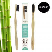 Organically Epic - Adult Charcoal Infused Bamboo Toothbrush MEDIUM