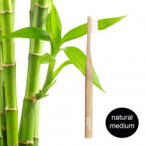 Hydrophil Adult - Biodegradable Bamboo Toothbrush Natural - Medium