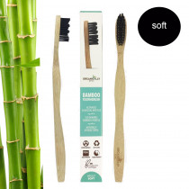 Organically Epic - Adult Charcoal Infused Bamboo Toothbrush SOFT