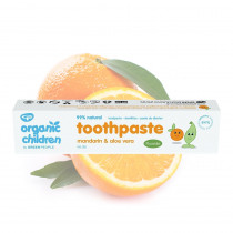 Green People Organic Children Mandarin & Aloe Vera Toothpaste with Fluoride 50ml