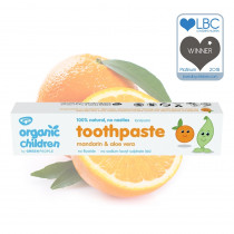 Green People Organic Children Mandarin & Aloe Vera Toothpaste 50ml