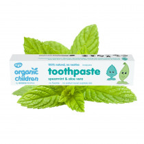 Green People Organic Children Toothpaste - Spearmint & Aloe Vera 50ml